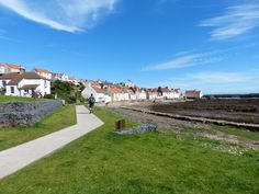 Walking in to Pittenweem on the Fife Coastal Path