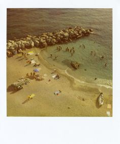 """Capri Beach 1""    Limited Edition Fine Art Polaroids shot by Patrick Cline for Lonnymag.com during their travel adventures. These reproductions from the original Polaroids are enlarged to 20x24"" include white Polaroid border, and are front Plexi-mounted 1/8"" ready to hang. This piece is # 1 in an Edition of 200."