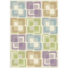 GeoAccent Square Multicolour AC1 Rug Home Decor Trends, Cool Rugs, Eyeshadow, Products, Eye Shadow, Eye Shadows, Gadget