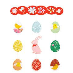 String Decoration : Easter B - Others - Parties & Events - Paper CraftCanon CREATIVE PARK - FREE printable
