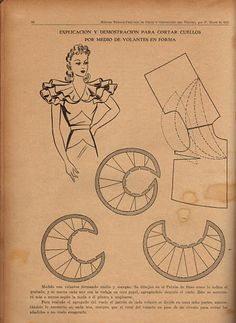 Patterns - sewing - vintage patterns - ruffle collar from https://picasaweb.google.com/110396987554751928801/MyFavoriteBooks_Sewing#5555923665671357010