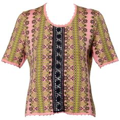 Christian Lacroix Vintage Pink Knit Sweater Top   From a collection of rare…