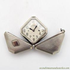 1931 Vintage Illinois Caprice Stainless Steel Purse Watch