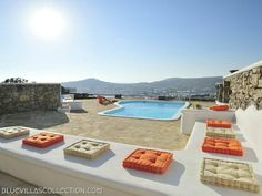 Welcome to the luxury Mykonos villa Argus! Its location in Ornos is ideal for partying since it is only km from Mykonos center and km from the. Mykonos Villas, Sitting Area, Terrace, Greece, The Outsiders, Island, Luxury, Outdoor Decor, House