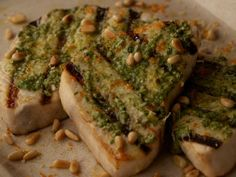 Get Swordfish With Citrus Pesto Recipe from Food Network