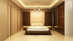 Liked 1. Hanging lights 2. Color of walls, tiles, cupboard 3. The main display wall's pattern 4. Design of the bed 5. False ceiling