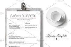 Elegant Resume Template Cover Letter Template & Resume Template.