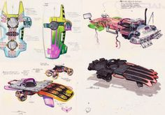 Concept art for Back to the Future II's hoverboards -- John Bell