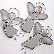 Лучистый Ангел – купить или заказать в интернет-магазине на Ярмарке Мастеров | Подвеска выполнена из витражного стекла в технике…