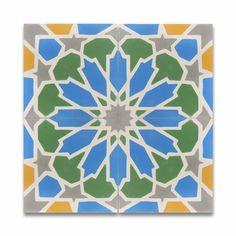 "Moroccan Mosaic Tile House Bahja 8"" x 8"" Cement Tile in Multicolor & Reviews | Wayfair"