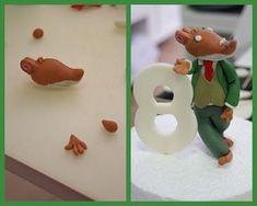 Modelando a Jerónimo Stilton para una tarta fondant