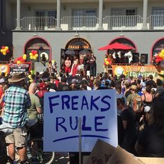 After 10 strong years the Venice Freak Show gets kicked out after #Snapchat purchases building for its employees.  Venice locals come out to support!  #venice #venicebeach #keepveniceweird #freak