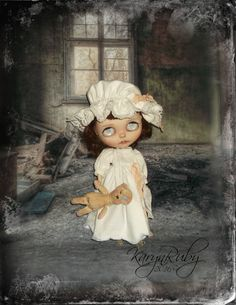 Blythe  Vintage  Inspired Nightgown & Nightcap 3 by KarynRuby
