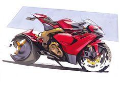 MV Agusta Hyperbike / Marker Sketch by Anthony Colard.