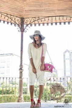 @roressclothes closet ideas #women fashion White Outfit Idea with Pink Shoulder Bag