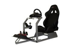 """GTR Racing Simulator - GTA Model with Real Racing Seat, Driving Simulator Cockpit Gaming Chair with Gear Shifter Mount by GTR Simulator. $369.99. Powder coated Frame. Free Shifter Holder. All Screws needed for installation. Precision-made supports for wheel and pedal supports. Racing Bucket Seats - Fully Reclineable. """"A"""" Stands for adjustability.  GTR Simulator unveils the new GTA Driving simulator is effortless comfortable with countless of groundbreaking design bringing th..."""