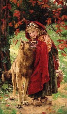 Gabriel Joseph Marie Augustin Ferrier - Little Red Riding Hood
