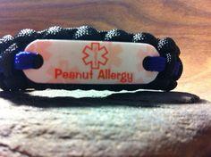 Peanut Allergy: Medical Alert paracord bracelet for children, $12.
