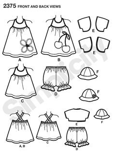 Sewing patterns for baby