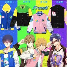 Online Shop Anime Free! Iwatobi Swim Club Haruka Nanase Nagisa Hazuki Makoto Tachibana Rin Matsuoka Cosplay Jacket|Aliexpress Mobile