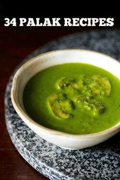 palak recipes, spinach recipes