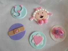 Doc Mcstuffins fondant cupcake toppers