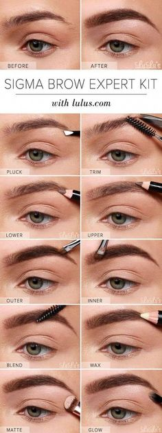 Make Up - Brow Shaping Tutorials - Brow Expert Kit Augenbrauen-Tutorial - Tolle Make-up-T. Sparse Eyebrows, Tweezing Eyebrows, Threading Eyebrows, Plucking Eyebrows, Best Eyebrow Makeup, Eye Makeup Steps, Best Eyebrow Products, Eyebrow Game, Beauty Products