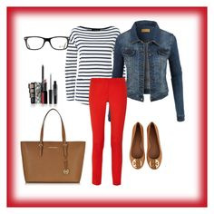 weekdays#49 by bidlekerika on Polyvore featuring polyvore Mode style Jaeger LE3NO Michael Kors Tory Burch Ray-Ban fashion clothing