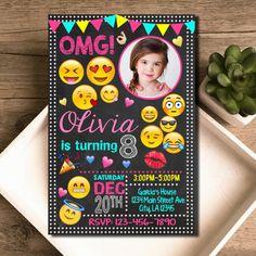 Emoji invitación / Emoji cumpleaños invitan a por KEDAIinvitation