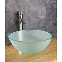 Countertop 31cm Frosted Glass Monza Washbasin Sink