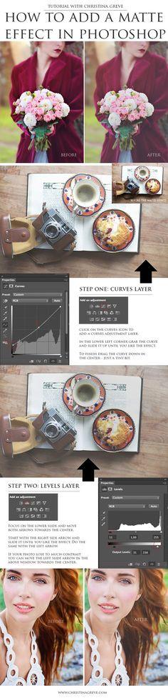 Matte Effect in Photoshop