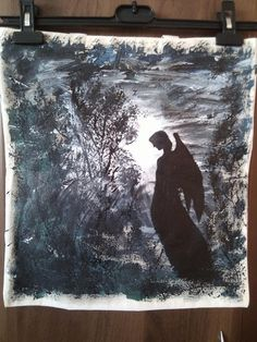 Torba ręcznie malowana Anioł