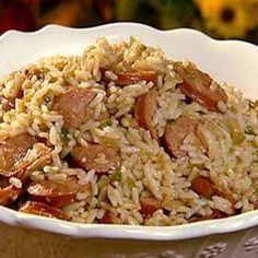 Dirty Rice With Smoked Sausage Recipe from Food Network, found @Edamam!