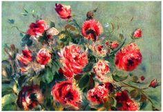 Pierre-Auguste Renoir Still Life Roses of Vargemont Art Print Poster Posters at AllPosters.com