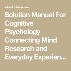 Solution manual for financial institutions management a risk solution manual for cognitive psychology connecting mind research and everyday experience edition e bruce goldstein solutions manual and test bank for fandeluxe