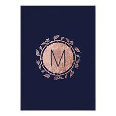 Shop Elegant Navy Blue Rose Gold Floral Wedding Invites created by I_Invite_You. Engagement Invitations, Gold Invitations, Elegant Wedding Invitations, Invites, Invitations Online, Invitation Ideas, Blue Wedding, Wedding Flowers, Spring Wedding