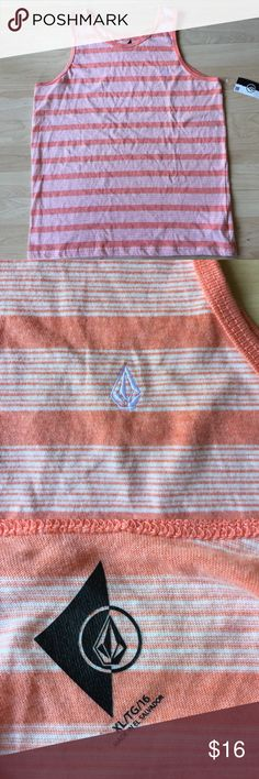 Volcom Orange and White Muscle Tank Big boys Muscle Tank. NWT. size XL Volcom Shirts & Tops Tank Tops