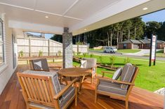 Alfresco Area | Outdoor Dining Space | Covered Decking | Wooden Floors | Summer Living Alfresco Area, Outdoor Dining, Outdoor Decor, Exterior Homes, Wooden Flooring, Decking, Cladding, Floors, Outdoor Furniture Sets
