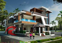 Rc Visualization is a growing Plan & Elevation Designing company. We are expert in architectural Planning, Elevation Designs, interior designs and realistic renderings. House Roof Design, House Outside Design, 2 Storey House Design, Home Building Design, Bungalow House Design, Bungalow Designs, Modern Exterior House Designs, Best Modern House Design, Bungalow Exterior