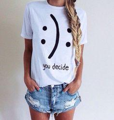 Shirt, you decide shirt 100% cotton tee, black/white/gray