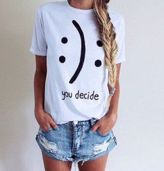 Shirt, you decide shirt 100% cotton tee, black/white/gray, unisex