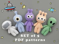 Crochet Patterns Amigurumi, Amigurumi Doll, Crochet Dolls, Crochet Diy, Crochet Crafts, Diy Crochet Projects, Kawaii Crochet, Crochet Mignon, Crochet Monsters
