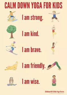 Calm Down Yoga Routine for Kids: Printable | Childhood101