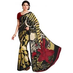 Designer Multicolor Printed Borders Saree-RKHR105(FH-RKHR101)
