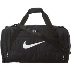 Nike Brasilia 6 Medium Duffel ($32) ❤ liked on Polyvore featuring bags, luggage, accessories, nike and duffle bags