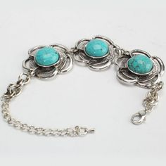 Floral Turquoise Bracelet