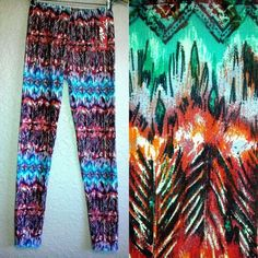 HOT KISS WOMEN'S LEGGINGS-NWT-TRIBAL AZTEC PRINT TIGHTS SUPER SOFT YOGA PANTS in Clothing, Shoes & Accessories | eBay