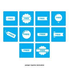 Free Label Icon Set