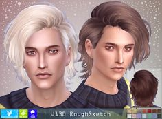NewSea: Rough Sketch hair - All For Hairstyles Sims 4 Men Clothing, Sims 4 Male Clothes, Sims 3 Male Hair, Sims Hair, Mods Sims, Sims 4 Game Mods, Les Sims 4 Pc, Sims Cc, Maxis