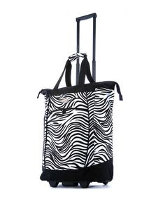 Take a look at this Zebra 15'' Fashion Wheeled Shopper Tote by Olympia on #zulily today!